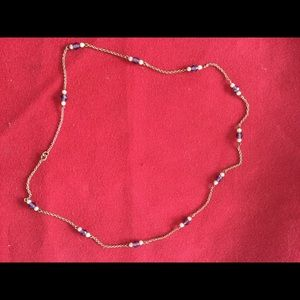 Jewelry - 10K gold chain necklace amethyst pearls VTG
